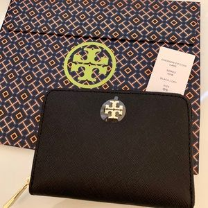 Tory Burch Emerson Zip Coin Case NEW